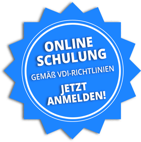 Anmeldung zum Webinar gemäß VDI-Richtlinienn